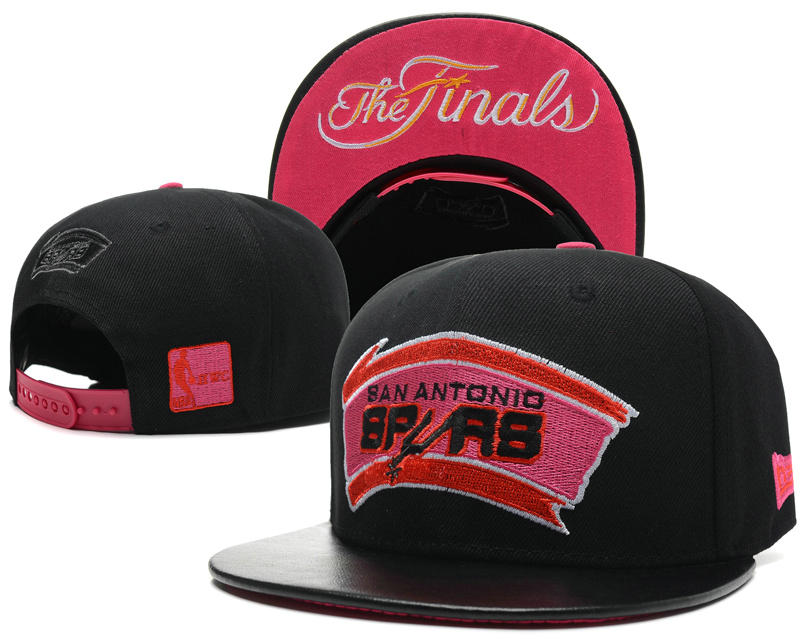 San Antonio Spurs The Finals Black Snapback Hat SD 0617